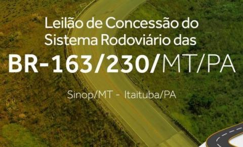 Consórcio Via Brasil arremata a BR-163/230/MT/PA em leilão sem disputa